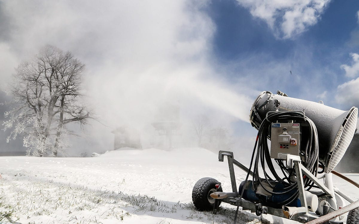 Snowmaking begins for the 2018-19 winter season